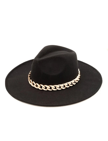 Rachel Chain Hat Black