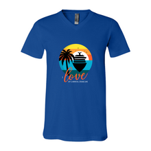 Load image into Gallery viewer, Unisex V-Neck - ILMCCL Blue Sunset Boat