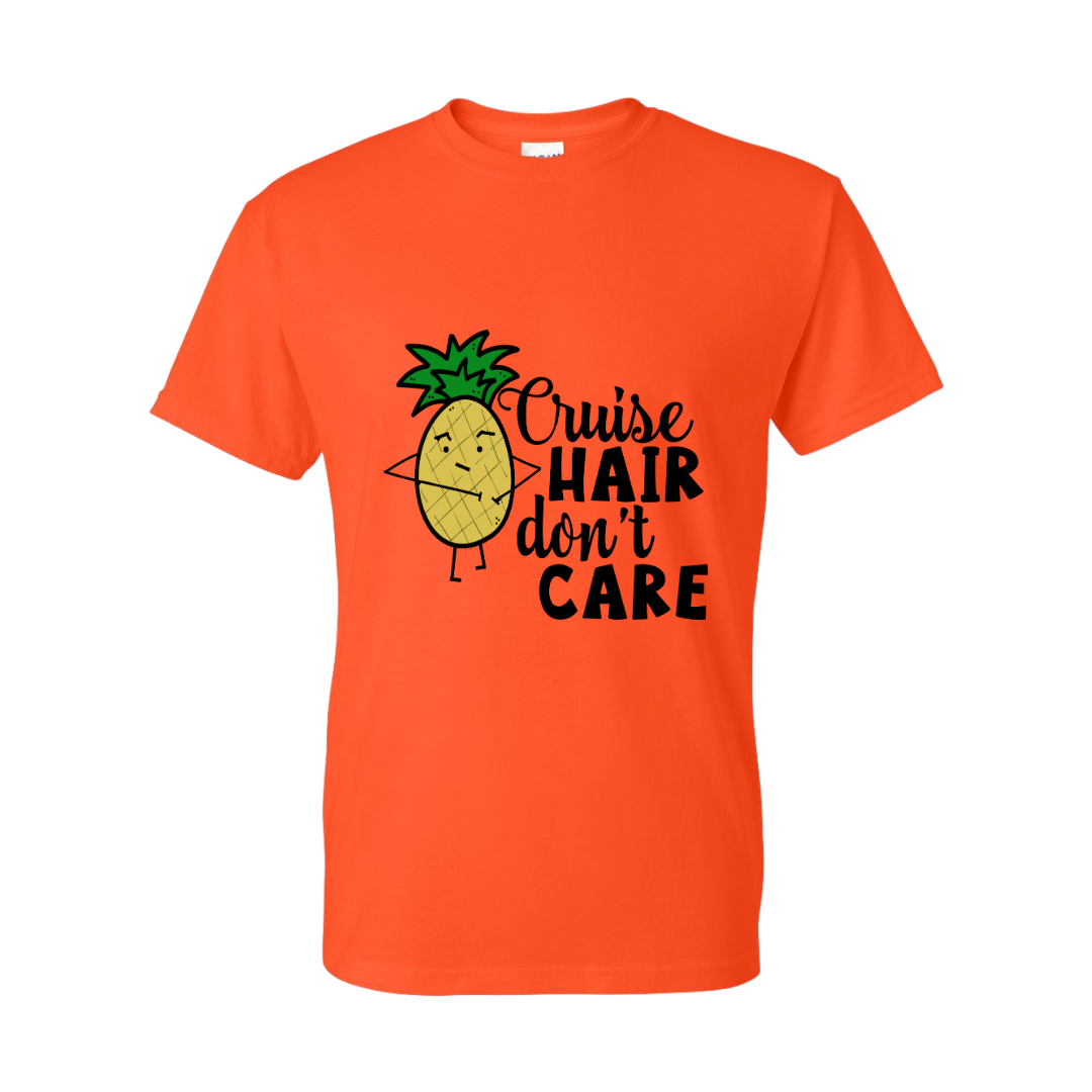 Gildan Unisex Tee - Cruise Hair Don't Care- Sizes up to 5XL