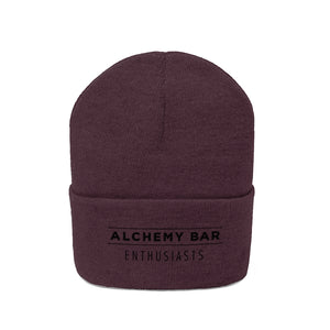 Knit Beanie - Alchemy Bar Enthusiasts - Black logo (9 colors)