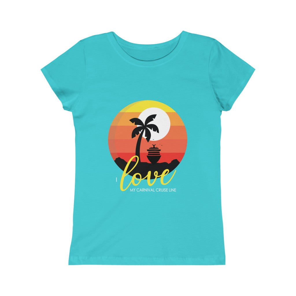 Girls I Love My Carnival Cruise Line Tee - Palm Tree (8 colors)