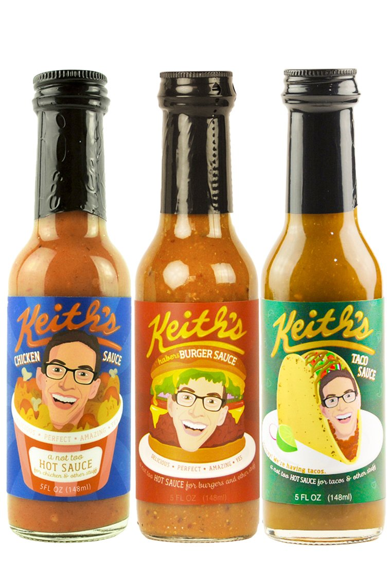 Keith's Hot Sauce Trio