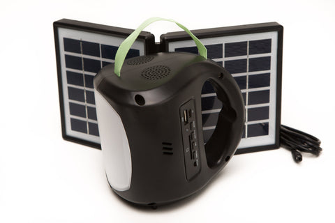 SOLAR LED LANTERN WITH USB CHARGER & AUDIO MP3 PLAYER, FM RADIO