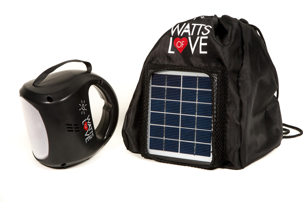 SOLAR LED LANTERN WITH USB CHARGER & CUSTOM BACKPACK