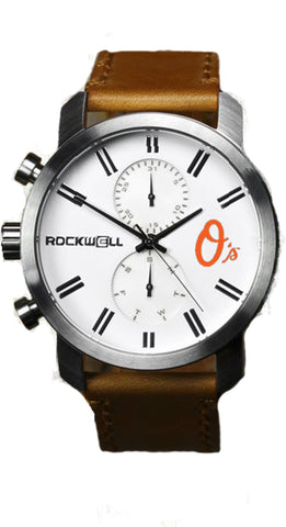 Baltimore Orioles Rockwell Apollo Watch - Brown Leather
