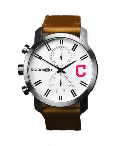 Cleveland Indians Rockwell Apollo Watch - Brown Leather