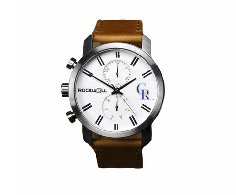 Colorado Rockies Rockwell Apollo Watch - Brown Leather