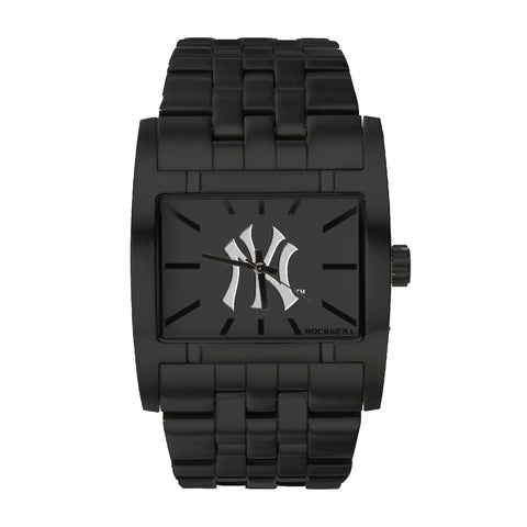 New York Yankees Rockwell Apostle Watch - Stainless Steel Black
