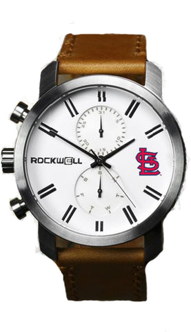 St. Louis cardinals apollo watch with brown leather bands