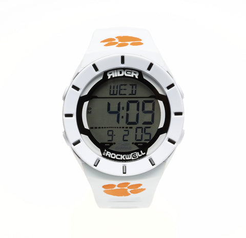 Clemson Tigers Rockwell Coliseum Digital Sport Watch - White