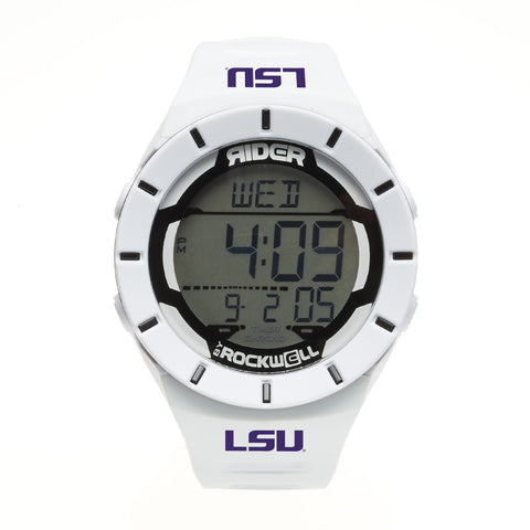LSU Tigers Rockwell Coliseum Digital Sport Watch - White