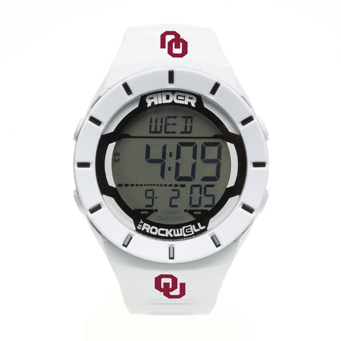 Oklahoma Sooners Rockwell Coliseum Digital Sport Watch - White