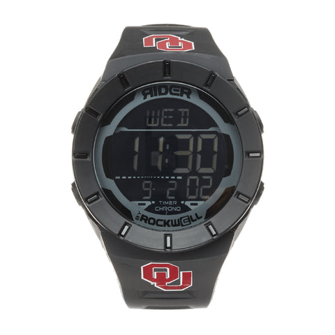 Oklahoma Sooners Rockwell Coliseum Digital Sport Watch - Black