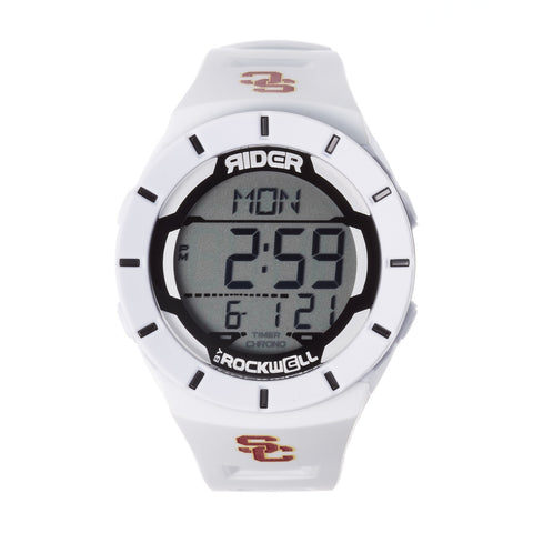 USC Trojans Rockwell Coliseum Digital Sport Watch - White