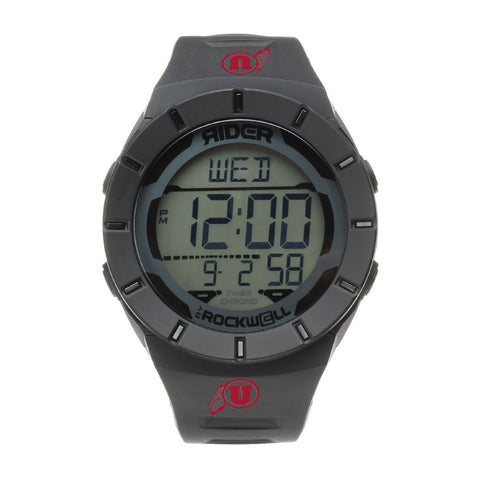 Utah Utes Rockwell Coliseum Digital Sport Watch - Black