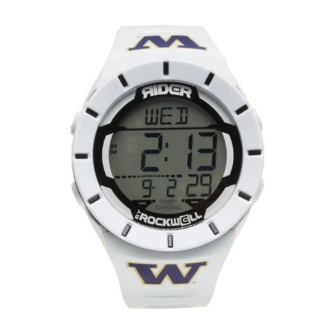Washington Huskies Rockwell Coliseum Digital Sport Watch - White
