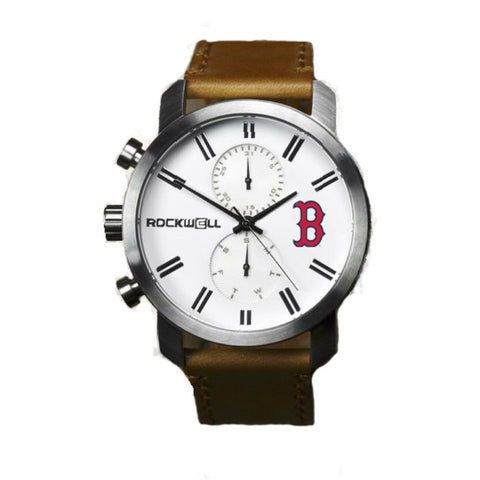 Boston Red Sox Apollo Watch with brown leather bands