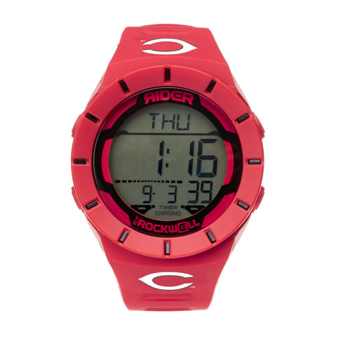 Cincinnati Reds Rockwell Coliseum Digital Sport Watch - Red