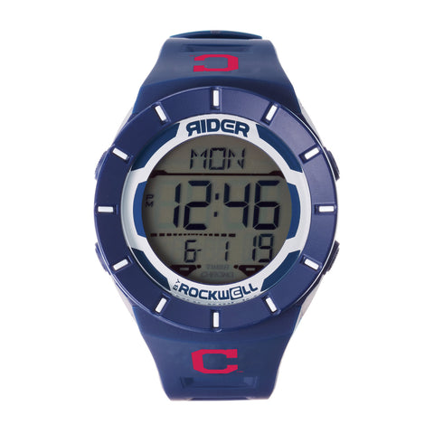 Cleveland Indians Rockwell Coliseum Digital Sport Watch - Navy