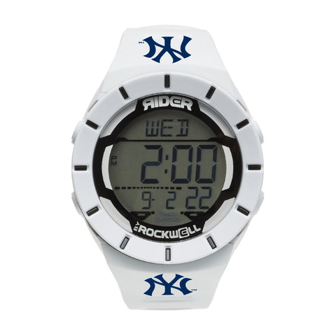 New York Yankees Rockwell Coliseum Digital Sport Watch - White