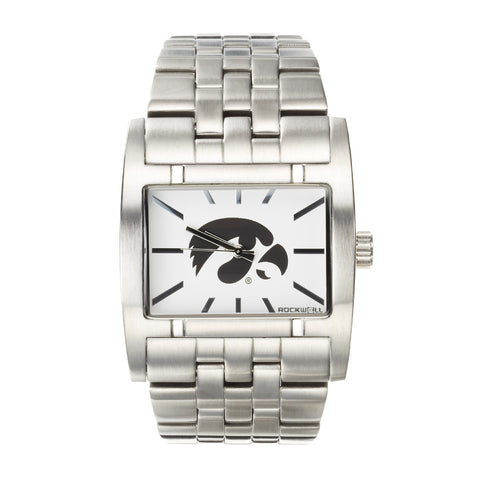 Iowa Hawkeyes Rockwell Apostle Watch - Stainless Steel