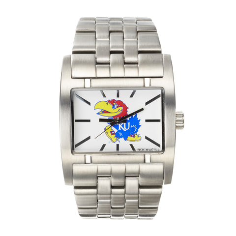 Kansas Jayhawks Rockwell Apostle Watch - Stainless Steel