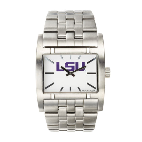 LSU Tigers Rockwell Apostle Watch - Stainless Steel