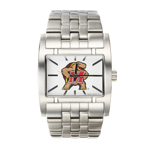 Maryland Terrapins Rockwell Apostle Watch - Stainless Steel