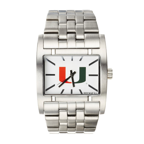 Miami Hurricanes Rockwell Apostle Watch - Stainless Steel