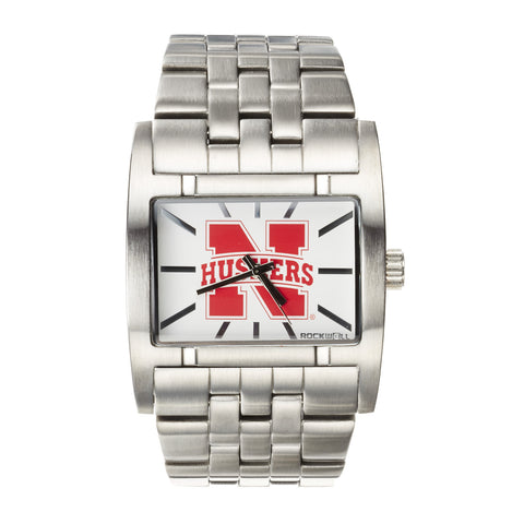 Nebraska Huskers Rockwell Apostle Watch - Stainless Steel
