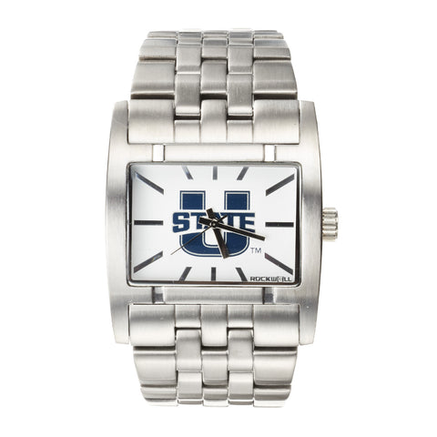 Utah State Aggies Rockwell Apostle Watch - Stainless Steel