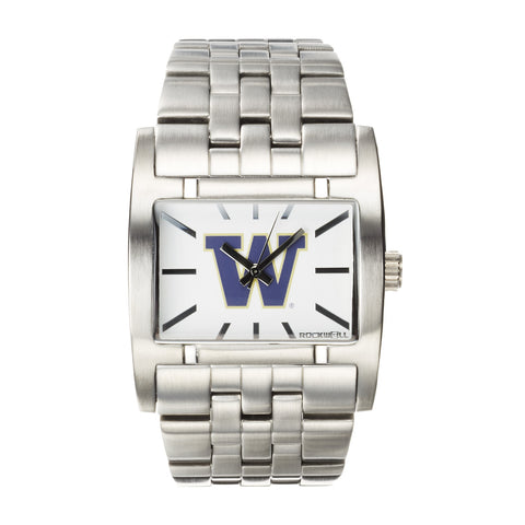 Washington Huskies Rockwell Apostle Watch - Stainless Steel