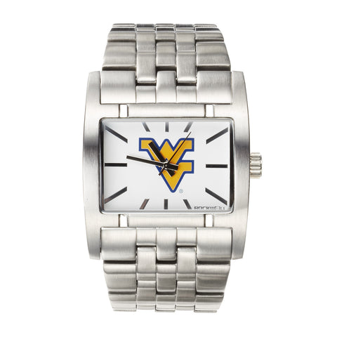 West Virginia Mountaineers Rockwell Apostle Watch - Stainless Steel