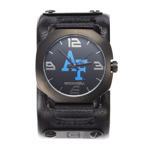 Air Force Falcons Rockwell Assassin Watch - Genuine Leather and Stainless Steel