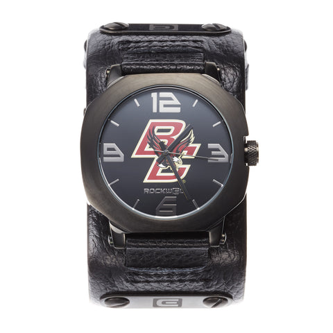 Boston College Eagles Rockwell Assassin Watch - Genuine Leather and Stainless Steel