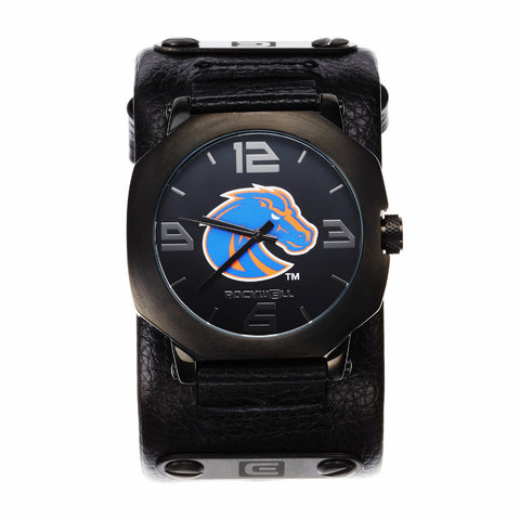 Boise State Broncos Rockwell Assassin Watch - Genuine Leather and Stainless Steel