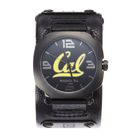 Cal Bears Rockwell Assassin Watch - Genuine Leather and Stainless Steel