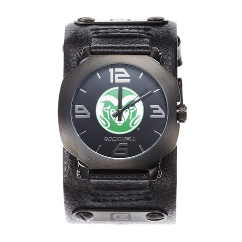 Colorado State Rams Rockwell Assassin Watch - Genuine Leather and Stainless Steel