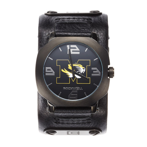 Missouri Tigers Rockwell Assassin Watch - Genuine Leather and Stainless Steel