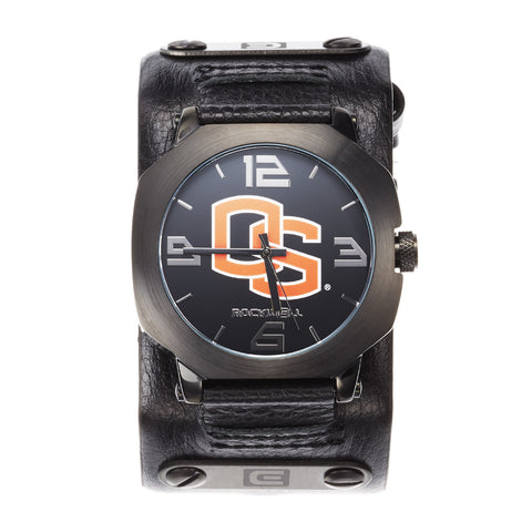 Oregon State Beavers Rockwell Assassin Watch - Genuine Leather and Stainless Steel