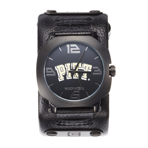 Pitt Panthers Rockwell Assassin Watch - Genuine Leather and Stainless Steel