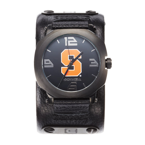 Syracuse Orange Rockwell Assassin Watch - Genuine Leather and Stainless Steel