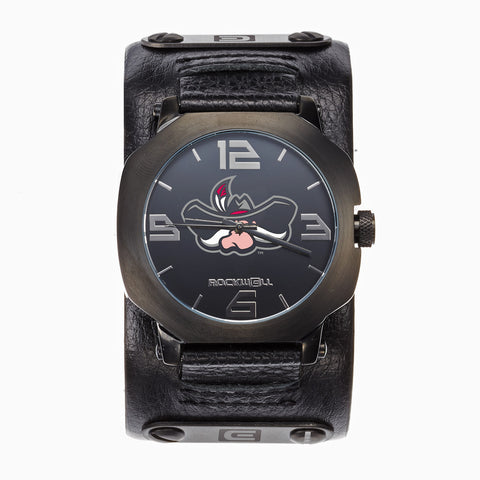 UNLV Rebels Rockwell Assassin Watch - Genuine Leather and Stainless Steel