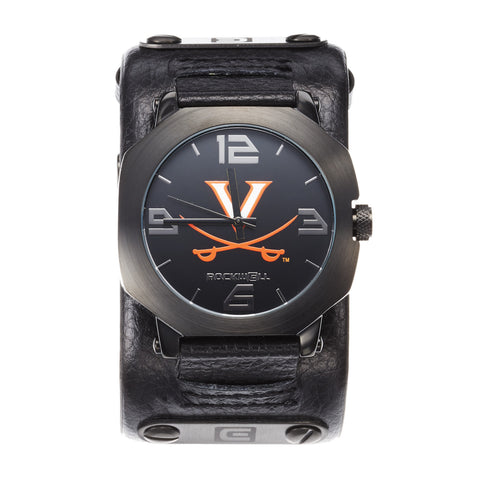Virginia Cavaliers Rockwell Assassin Watch - Genuine Leather and Stainless Steel