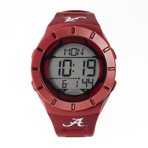 Alabama Crimson Tide Rockwell Coliseum Digital Sport Watch - Crimson