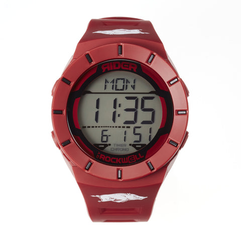 Arkansas Razorbacks Rockwell Coliseum Digital Sport Watch - Cardinal
