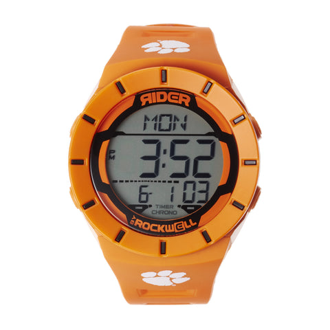 Clemson Tigers Rockwell Coliseum Digital Sport Watch - Orange