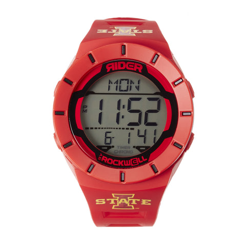Iowa State Cyclones Rockwell Coliseum Digital Sport Watch - Red