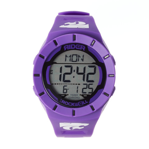 Kansas State Wildcats Rockwell Coliseum Digital Sport Watch - Purple