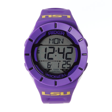 LSU Tigers Rockwell Coliseum Digital Sport Watch - Purple